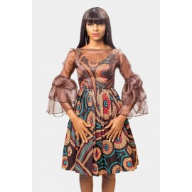 Simple Ankara  tiered sleeves Dress