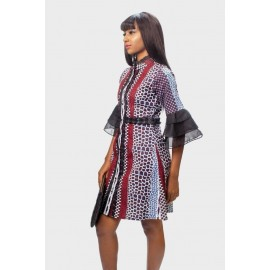 Tiered Organza Dress,  Dress, Ankara Dress
