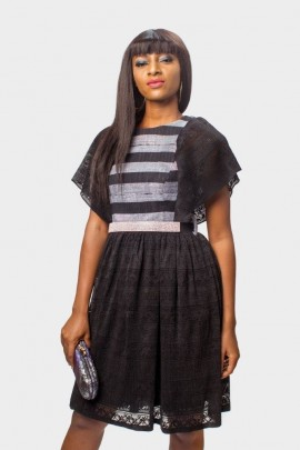 Asoke and Lace Dress
