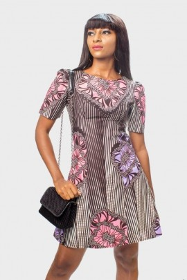 Ankara Lightly Sequined Dress