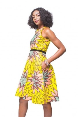 Vibrant Wax High waist Dress