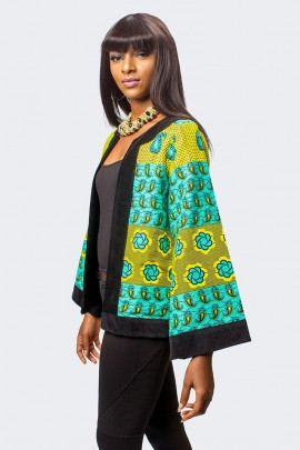 Ankara Jacket with Velvet Taping