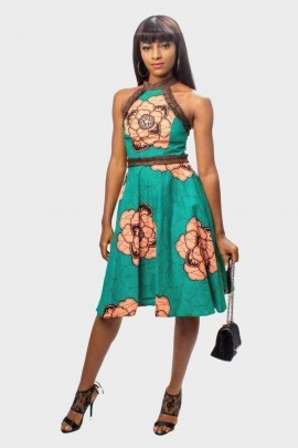 Ankara Halter Neck Dress